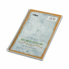 Second Nature Subject Wire Notebook College Rule, 80 Sheets (Set of 2)