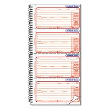 Second Nature Phone Call Book Two-Part Carbonless, 400 Forms