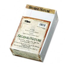 Second Nature Recycled Note Pads, Legal/Margin Rule, 50-Sheet
