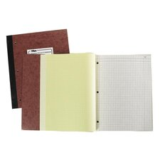 """Lab Research Notebook, 11x8-1/2"""", 100 Sheets, Brown"""