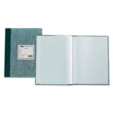"Lab Notebook, 10""x7-3/8"", 60 Sheets, Green Marble"