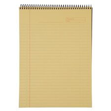 """Wirebound Planning Pad, 20lb, 8-1/2""""x11-3/4"""", 70 Sheets, Canary"""