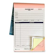 Packing Slip Book, 5-1/2 x 7-7/8, 3-Part Carbonless, 50 Sets/Book