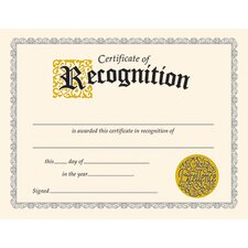 Recognition Certificate (Set of 2)