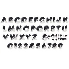 Metallic Casual Uppercase Letter (Set of 2)