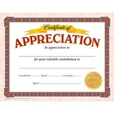 Appreciation Certificate (Set of 2)