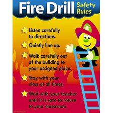 Fire Drill Safety Rules Chart (Set of 3)