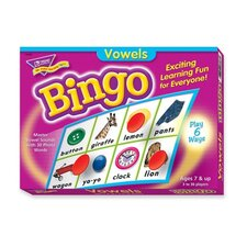 Vowels Bingo Game, 3-36 Players, 36 Playing Cards/Mats