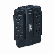 Surge Suppressor, Direct Plug In, 6 Swivel Outlers, 1500 Joules