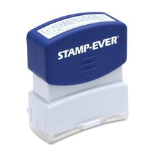 "Stamp, Pre-Inked, ""Completed"", 9/16""x1-11/16"" Imp, Blue"