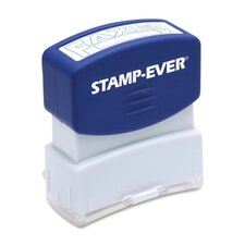 "Stamp, Pre-Inked, ""Faxed"", 9/16""x1-11/16"" Imp, Blue"