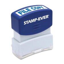 "Stamp, Pre-Inked, ""File Cop"", 9/16""x1-11/16"" Imp, Blue"