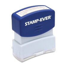 """Stamp, Pre-Inked, """"Received"""", 9/16""""x1-11/16"""" Imp, Red"""