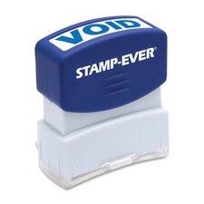 "Stamp, Pre-Inked, ""Void"", 9/16""x1-11/16"" Imp, Blue"