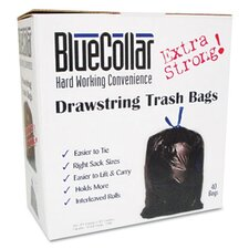 Bluecollar Drawstring Trash Bags, 80/Box