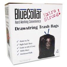 Bluecollar Drawstring Trash Bags, 80/Box