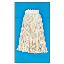 Cotton Fiber Cut-End Mop Head in White (Set of 15)