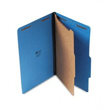 Pressboard Classification Folder, Legal, Four-Section, 10/Box