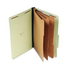 Pressboard Classification Folder, Legal, Eight-Section, 10/Box