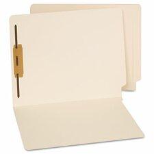 End Tab Folders, One Fastener, Letter, Manila, 50/Box