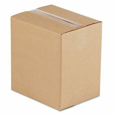 Corrugated Kraft Fixed-Depth Shipping Carton,25/Bundle