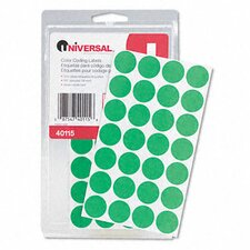 Permanent Self-Adhesive Color-Coding Labels, 1008/Pack (Set of 4)