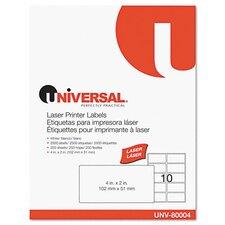 Laser Printer Permanent Labels, 2500/Box