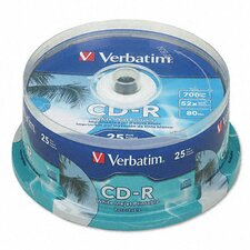 Hub Ij Printable Spindle Cd-R Discs, 700Mb/80Min, 52X, 100/Pack