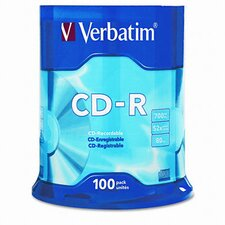 Spindle Cd-R Discs, 700Mb/80Min, 52X, Spindle, 100/Pack