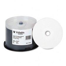 Inkjet Printable Spindle Dvd+R Discs, 4.7Gb, 16X, 50/Pack
