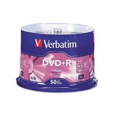 Spindle Dvd+R Discs, 4.7Gb, 16X, 50/Pack
