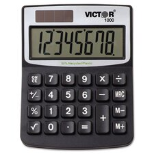 Solar/Battery Minidesk Calculator, 8-Digit Display
