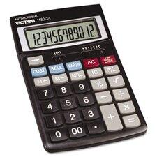 Antimicrobial Desktop Calculator, 12-Digit Lcd