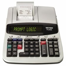 Prompt Logic Printing Calculator, 14-Digit Dot Matrix