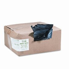 ReClaim Can Liners, 40-45 gallon, 1.25mil, 40 x 46, Black, 100/carton