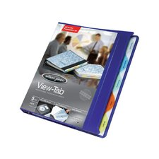 "View-Tab Round Ring Presentation Binder, 5-Tab Style, 5/8"" Capacity"