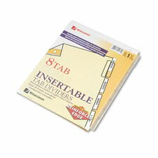 Gold Pro Insertable Tab Index, 8-Tab, Letter, Buff Sheets (Set of 4)