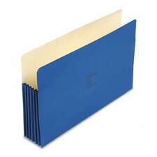 """Colorlife 5 1/4"""" Expansion Pockets, Straight Tab, Legal, 10/Box"""