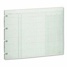 Accounting Sheets, 3 Column, 9-1/4 X 11-7/8 , 100 Loose Sheets/Pack