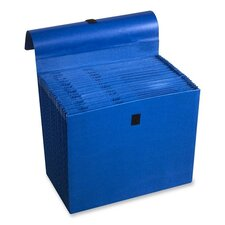 """Expanding File, 31 Pockets, Labeled 1-31, 10""""x12"""", Dark Blue"""