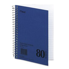 Spiral Bound 1 Subject Notebook, College Rule, 5 X 7, 80 Sheets/Pad (Set of 3)