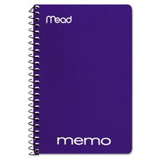 """Memo Book, College Ruled, 6""""x 4"""", Wirebound, 40 Sheets, Assorted (Set of 7)"""