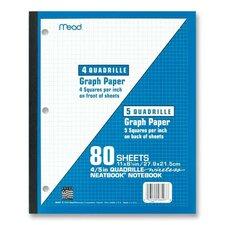 "Wireless Neatbook, 1-Sub, Quad Rule, 11""x8-1/2"", 80 Sheets, White (Set of 3)"