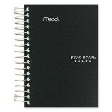"""Notebook, College Ruled, 200 Sheets, 5-1/2""""x4"""", Assorted (Set of 3)"""