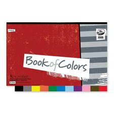 """Construction Paper Book, 18""""x12"""", 48 Sheets, Assorted"""