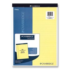 """Legal Pad, Legal Rule, 70 Sheets, 8-1/2""""x11"""", Canary (Set of 2)"""