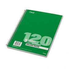 Spiral Bound Notebook, College Rule, 8-1/2 X 11, 120 Sheets/Pad (Set of 2)