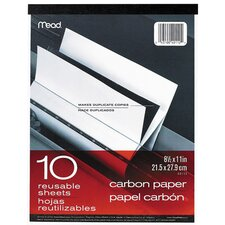 "10 Count 8.5"" x 11"" Carbon Paper Tablet"