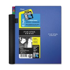 Five Star Advance Wirebound Notebook, College Rule, Letter, 5 Subject 200 Sheets/Pad