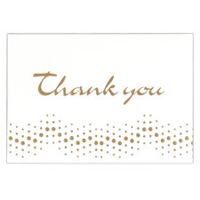 """4"""" x 5.75"""" Embossed Thank You Note (Set of 10)"""